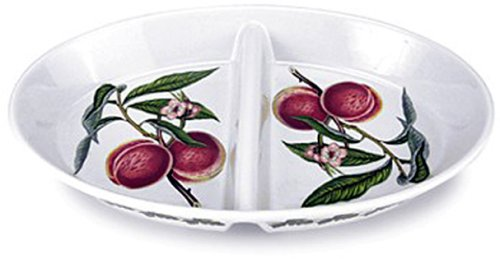 Portmeirion Pomona Earthenware 14-1/2 x 9-1/4-Inch Oval Divided Dish