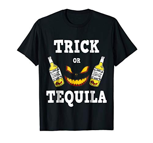 Trick or Tequila Shirt Adult Halloween Costume -