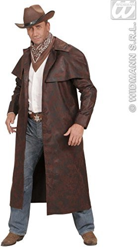 xL Brown Duster Coats Costume Extra Large for Wild West Cowboy Fancy Dress by WIDMANN (Cowboy Duster Coat Costumes)