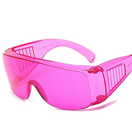 Occhiali di sicurezza SENRISE Lab Occhiali Occhiali protettivi resistenti agli urti e balistici con lenti trasparenti in colori assortiti rosa