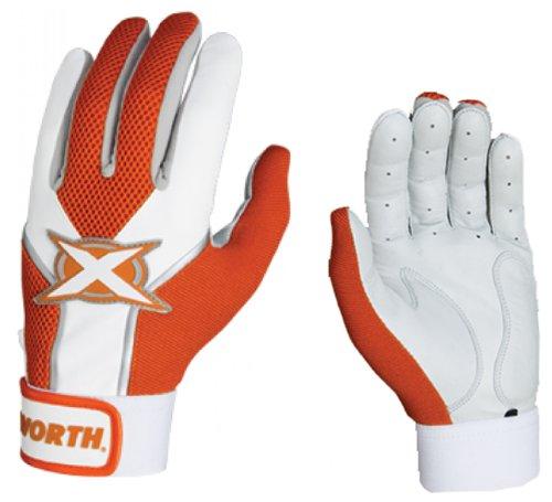 Worth Adult Toxic Baseball/Softball Batting Gloves ORANGE...