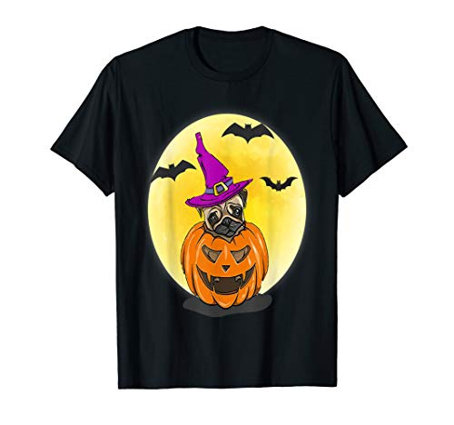 Pugs Wearing Halloween Costumes (Pumpkin Pug Halloween Costume Gift Idea For Dog Lovers)