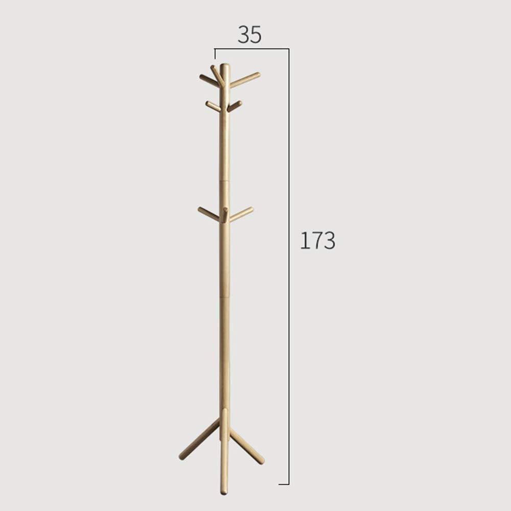 Amazon.com: Coat Rack Solid Wood Entryway Standing Hall Tree ...