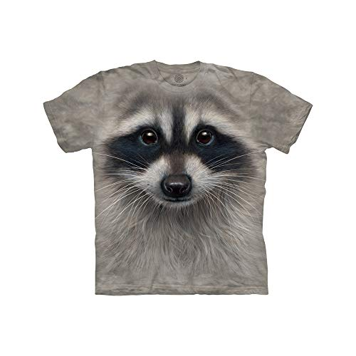 The Mountain Raccoon Face Child T-Shirt, Grey, Small