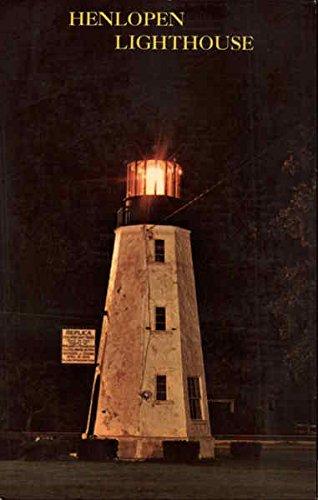 Henlopen Lighthouse Philadelphia, Pennsylvania Original Vintage Postcard