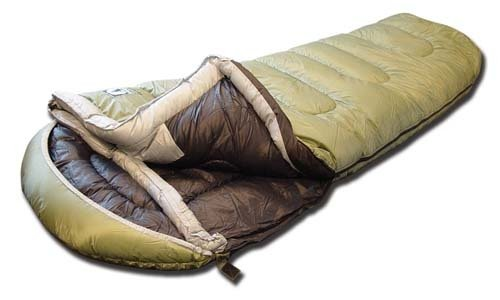 Black Pine Big Johnson -40 Degree Mummy Sleeping Bag,Olive/Black,Left Zip, Outdoor Stuffs
