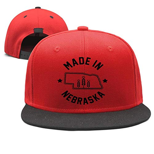 FPPING Made in Nebraska Design Unisex Classic Quick Drying Snapback Flat Bill Brim Trucker Hat Adjustable