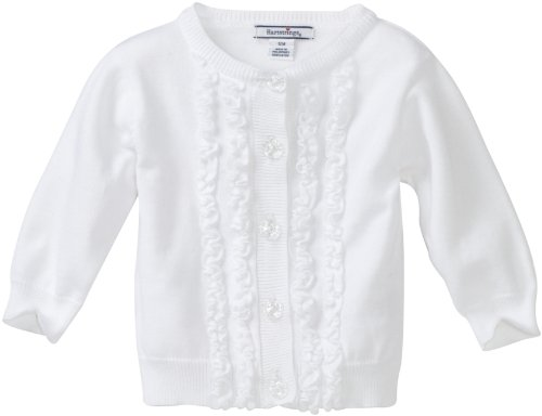 Hartstrings Baby Girls' Ruffle Front Cardigan Sweater
