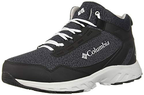 Columbia Women's IRRIGON Trail MID Knit Outdry Hiking Boot, Black, White, 10 (Knit Womens Boots)