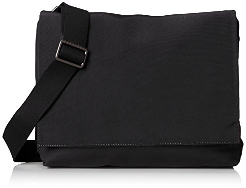 Skagen Men's Eric Messenger Bag Nylon, Black, One Size by Skagen