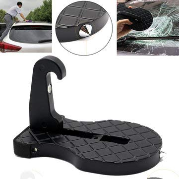 - Guitar Shape Folding Car Doorstep Hook Latch Ladder Easy Access to Car Rooftop with Safety Hammer - Exterior Accessories Body Armor - 1 X Kick Start Shaft Gear