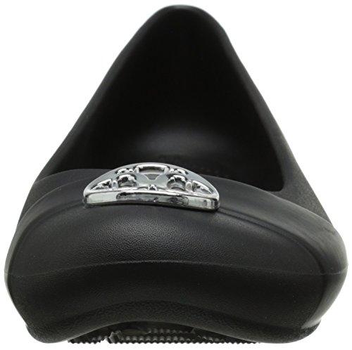 silver Pour Black Beige Crocs Femme Ballerines Sqw6UxSF0