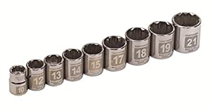 "CRAFTSMAN 934566 9 Piece 3/8"" Drive Easy-to-Read Metric Socket Set"