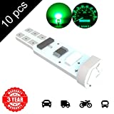 LED Monster 10 x T5 5 SMD Green LED Bulbs Instrument Panel Gauge Cluster Replacement Lamp for Lexus