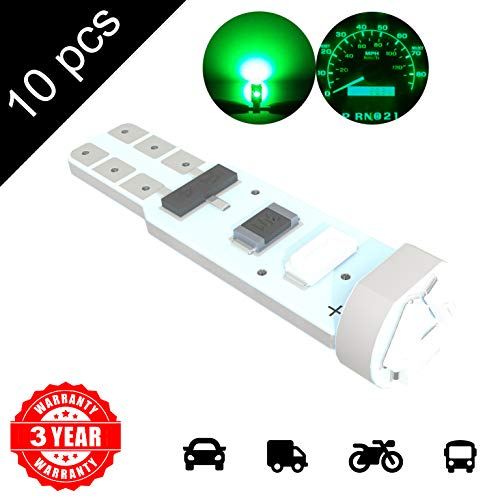 LED Monster 10 x T5 5 SMD Green LED Bulbs Instrument Panel Gauge Cluster Replacement Lamp for Lexus by LED Monster
