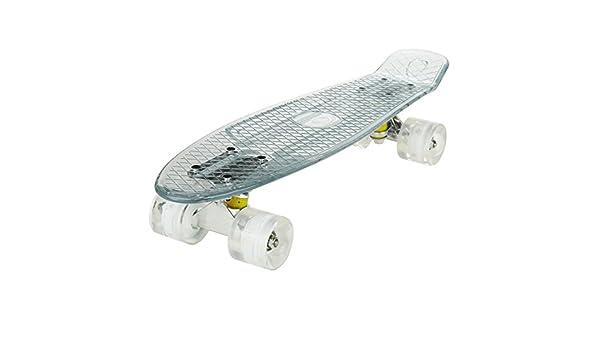 Lonlier Monopatín de Ruedas Ligeras del LED Skateboard 22