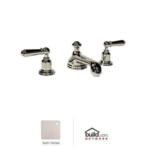 Rohl U.3705L-STN-2 U.7700X-Apc Perrin & Rowe Edwardian Low Level Spout with Aerator Widespread Lavatory Faucet, Satin Nickel ()