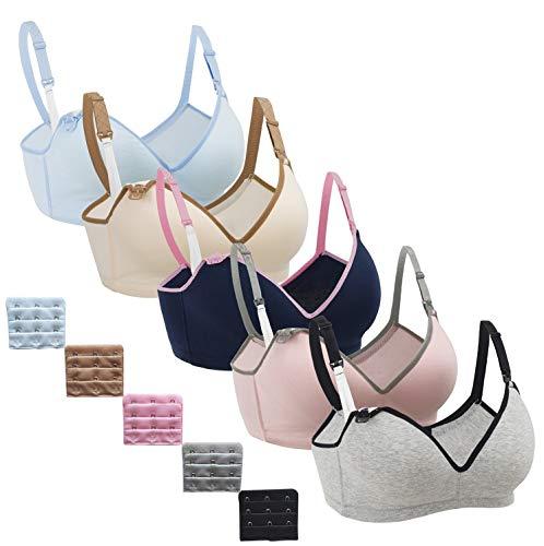 Nursing Bra,Womens Maternity Breastfeeding Bra Wireless Sleeping Bralette with Extenders,M Size