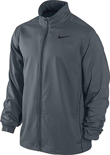 New Nike Men's Team Woven Jacket Flint Grey/Flint Grey/Black Medium