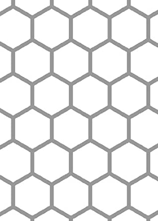 Hex Tile Accent Stencil with Paints: Industrial Products