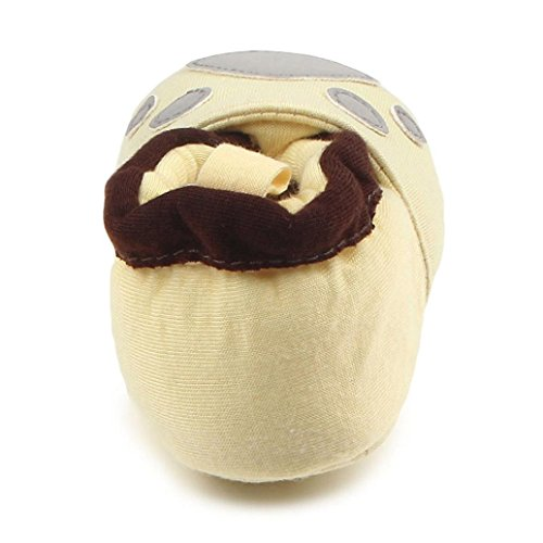 Babyschuhe Longra Kleinkind erste Wanderer Baby Schuhe runde Zehe flache weiche Pantoffel Krabbelschuhe(0 ~ 12 Monate) D