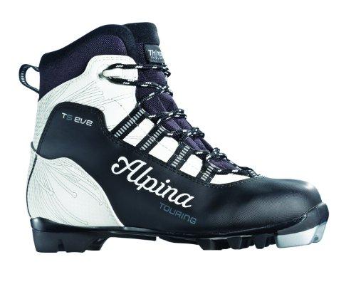 (Alpina Women's T5 Eve Cross-Country Nordic Touring Ski Boots, Black/White, 36)