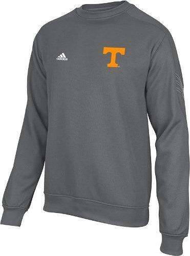 Tennessee Volunteers Adidas Sideline Power T Logo Coaches Crew Sweatshirt - Gray