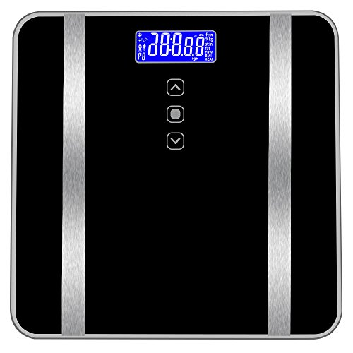 GXOK Digital Body Weight Scale for Bathroom, Body Fat Scale- Weight Scale Body Composition Monitor Health Analyzer - Tempered Glass -180KG/400 Pounds [Ship from USA Directly]