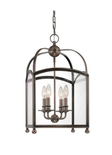Darien 1-Light Pendant - Distressed Bronze Finish with Opal Glossy Glass Shade