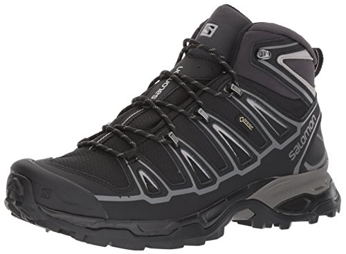 - Salomon Men's X Ultra MID 2 Spikes GTX Snow Boot, Black/Aluminium, 8.5 M US
