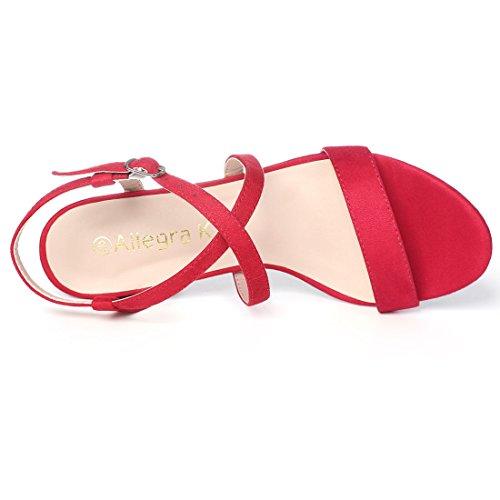 Sandals K Crisscross Women Allegra Heeled Red Straps XaBgXTwq