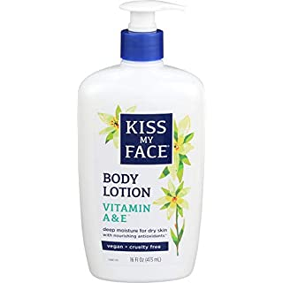 Kiss My Face Body Lotion Vitamin A and E 16 Ounce (Packaging May Vary)