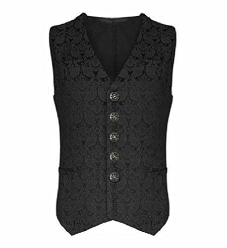 Darkrock Mens Vest Waistcoat Gothic Steampunk Victorian 3