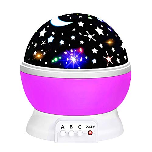 Toys for 1-10 Year Old Girls Boys, Dreamingbox Star Night Lights Projector for Kids Magic Toys for 1-10 Year Old Boys Girls 2019 Birthday Gifts for Toddlers Boys Girls Purple TGUSYD06 (Best Girls Toys 2019)