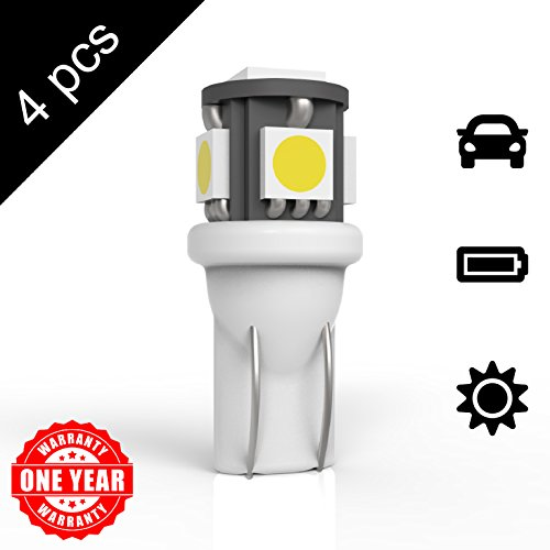 LED Monster 4x 168 194 T10 5SMD LED Bulbs Car License Plate Lights Lamp White 12V (4)