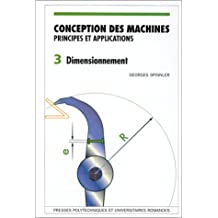 Conception des Machines T.3: Dimensionnement