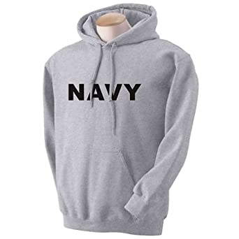 NAVY Hooded Sweatshirt in Gray at Amazon Men's Clothing store ...