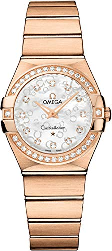 Omega Constellation Solid Rose Gold and Diamond Ladies Watch 123.55.27.60.55.015