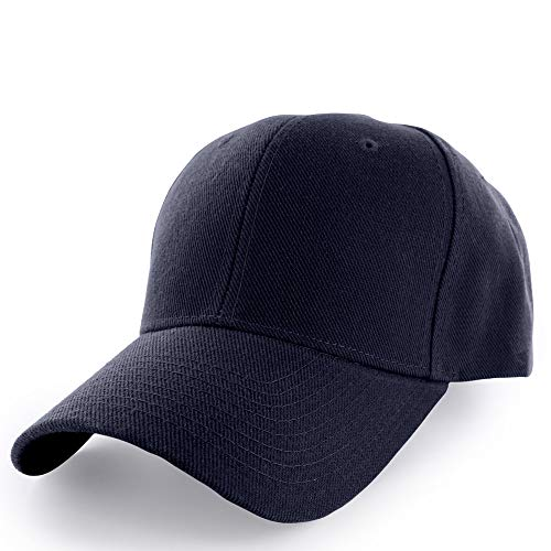 KANGORA Plain Baseball Cap Adjustable Men Women Unisex | Classic 6-Panel Hat | Outdoor Sports Wear (20+Colors) (Navy)