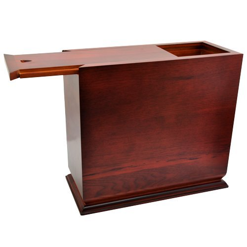 Cherry Finish Slide Top Wood Urn (Photo Engraved) by Memorial Gallery (Image #2)