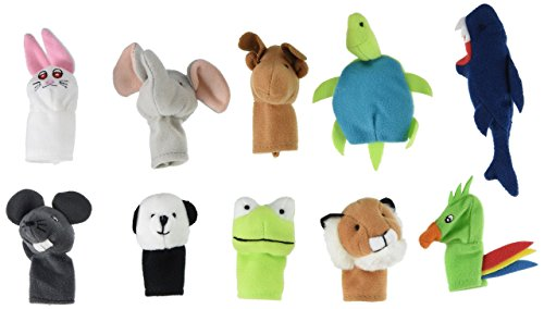 Finger Puppets Royal (IKEA Titta Djur 10 pc Animal Finger Puppet Set)