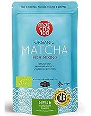 Matcha Pulver Tee 108 - Bio Premium Qualität (für kräftiges Tee-Aroma zum Mixen) - Ideal für Smoothie, Latte, zum Kochen & Backen – Zertifiziertes Grüntee Pulver [108g Premium Grade Green Tea]