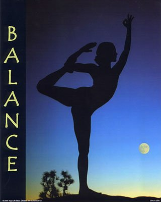 Balance by Kyer Wiltshire-Yoga Poster- 16x20