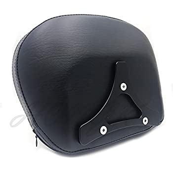 Black Backrest Sissy Bar w//Luggage Rack Compatible with Harley Touring 09-17 Street Glide HTTMT SSB001+501-05-03-T
