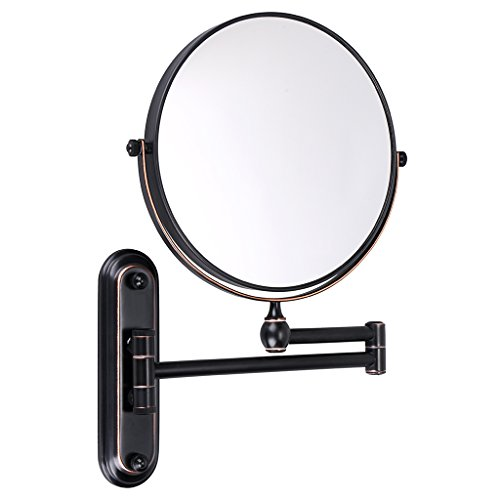 Sumnacon 8 Inch Double-Sided Swivel Wall Mount Vanity Mirror, 10x Magnification 360°Swivel -