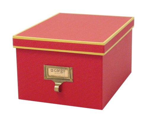 cargo Atheneum Photo/Supply Box, Red, Set of (Cargo Office Box Set)