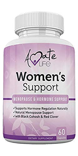 Women's Support Supplement- Natural Hormone Regulation- Menopause Support Supplement- Estrogen Rich Supplement- Active Ingredients Hormone Regulation - Pills to Balance Hormones Non-GMO by Amate Life