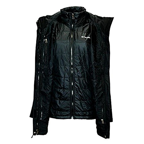 Columbia Women's Frigid Flight Long Interchange 3 in 1 Jacket OMNI HEAT, Black, X-Large