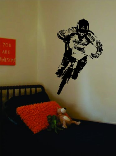Real BMX Biker Decal Sticker Wall Vinyl Art Sport Bike Teen