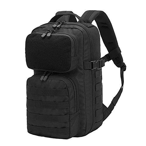 Gibson Sport 20L Tactical Backpack,Military Backpack,Small Army Molle Backpack for Trekking (Black)